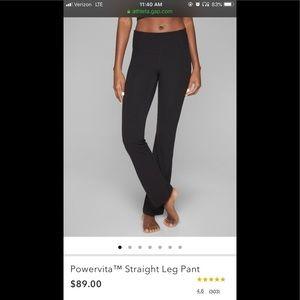 Athleta Powervita Straight Leg pant size small